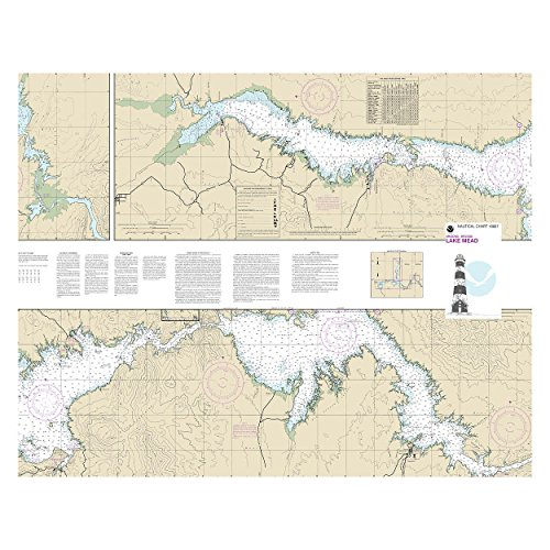 Lake Mead Nautical Chart Unframed Vinyl Art Print - Perfect for indoors / outdoors. All-weather.