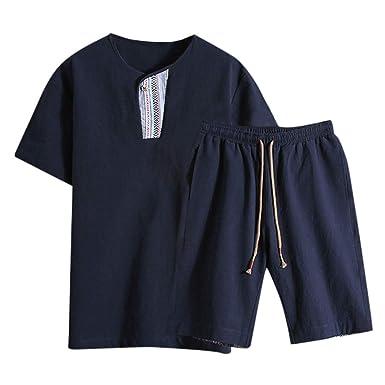 Boy Yang - Chándal deportivo de hombre, camiseta y pantalón corto ...