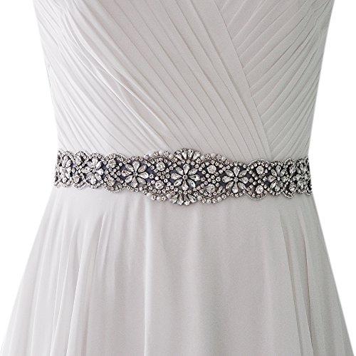 f220963f35ce Azaleas Women's Crystal Wedding Belt Sashes Bridal Sash Belt for Wedding  (Royal Blue)