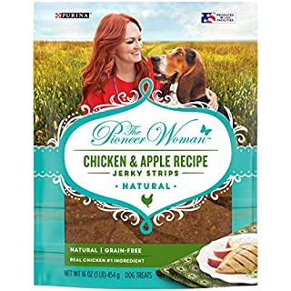 The Pioneer Woman Grain Free, Natural Jerky Dog Treats, Chicken & Apple Recipe Jerky Strips - 16 oz. Pouch, 00038100183279