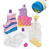 Botellas en Forma de Unicornio para Decorar con Arena - Juego de Manualidades (Pack de