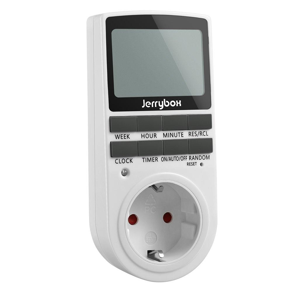 Jerrybox Temporizador Digital Programable, Enchufe Programador Diario / Semanal, Ahorrar Energía y Dinero product