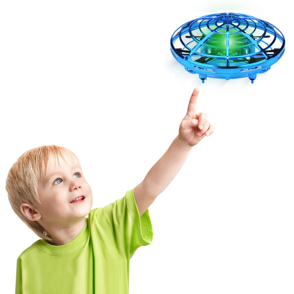 Desuccus Flying Toys Drones for Kids & Adults, Hands Controlled Mini Drone Helicopter with 360° Rotating and Shinning LED Lights, Easy Indoor Flying Ball Drone Toys for Boys or Girls by Desuccus