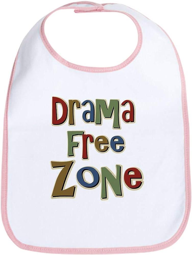 CafePress Funny Drama Free Zone Bib Cloth Baby Bib