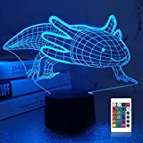 Lampeez 3D Axolotl Lamp Night Light Mexican