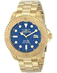 Invicta Mens 15193 Pro Diver Analog Display Swiss Quartz Gold-Plated Watch