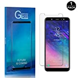 Galaxy A6 Plus 2018 Screen Protector, Bear Village® Premium Tempered Glass Screen Protector, Scratch Resistant HD Screen Protector Film for Samsung Galaxy A6 Plus 2018-1 PACK