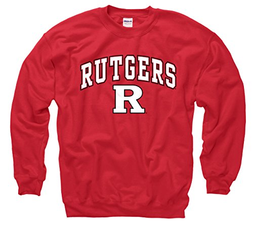 Rutgers Scarlet Knights Logo (Campus Colors Rutgers Scarlet Knights Adult Arch & Logo Gameday Crewneck Sweatshirt - Red, Small)