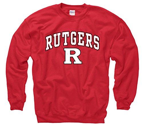 (Rutgers Scarlet Knights Adult Arch & Logo Gameday Crewneck Sweatshirt - Red, XX-Large)