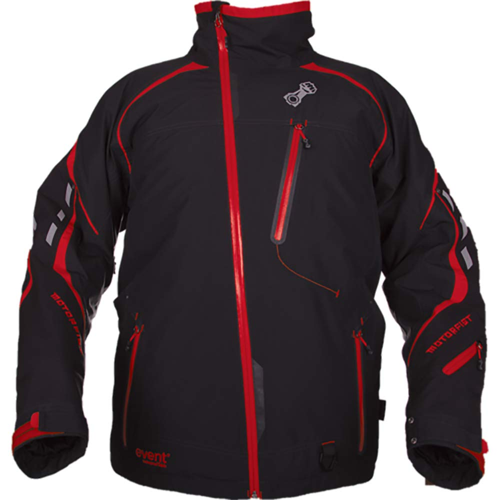 Motorfist Mens Redline Jacket Black//Yellow Small 20592-4011