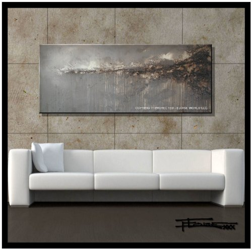 Modern, Abstract, Canvas Wall Art, Painting, Limited Edition Giclee....IMPULSE....60x24x1.5 Ready to Hang, US artist..ELOISExxx