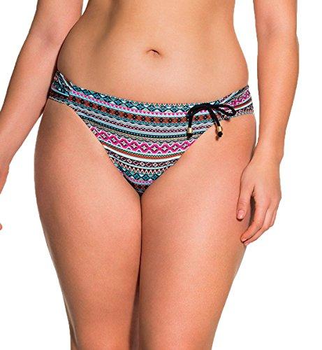 Dorina Curves Venezuela Tab Side Bikini Swim Brief #D17023G,XS,Black Graphic