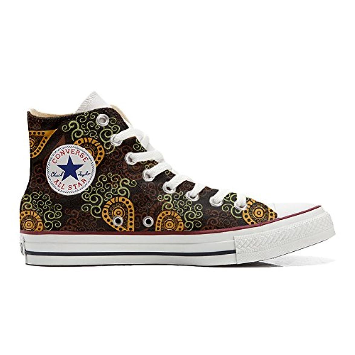 Converse All Star Scarpe Personalizzate scarpe Artigianali Brown Paisley