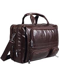 Ac 260 Baigio Mens Leather Laptop Briefcase