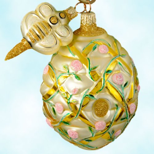 Patricia Breen Christmas Ornaments, Trelliage Beehive, Pink, 2000, 2043, Roses on lattice