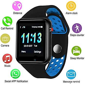 Smart Watches, IOQSOF Touchscreen Bluetooth Smart Watch with Camera, Android Smartwatch, Waterproof Smart Watches Compatible Samsung iOS iPhone X 8 7 6 6S ...