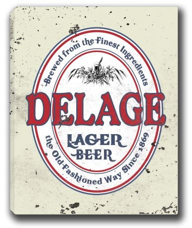 delage-lager-beer-stretched-canvas-sign-16-x-20