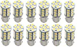 12 x Green Value LED 25001V-12W 1156/1141 Base Tower LED Replacement Bulb 250 LUM 8-30v Warm White