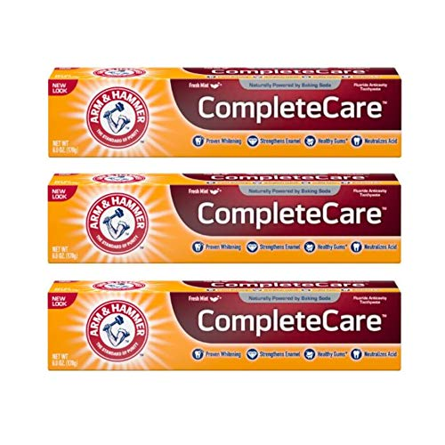 Arm & Hammer Fluoride Anti-Cavity Toothpaste - 6 oz - 3 pk - Hammer Complete Care Toothpaste