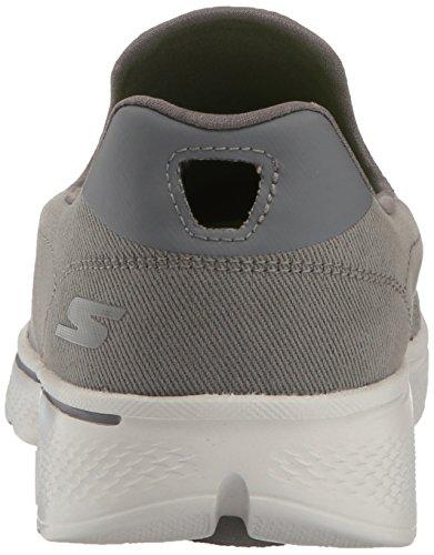 Hombre Skechers 4 Walk Go Gris Zapatillas para Oscuro qx6F8wz