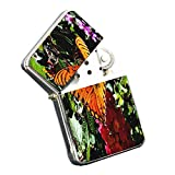 Butterfly Orange - Silver Chrome Pocket Lighter by Elements of Space