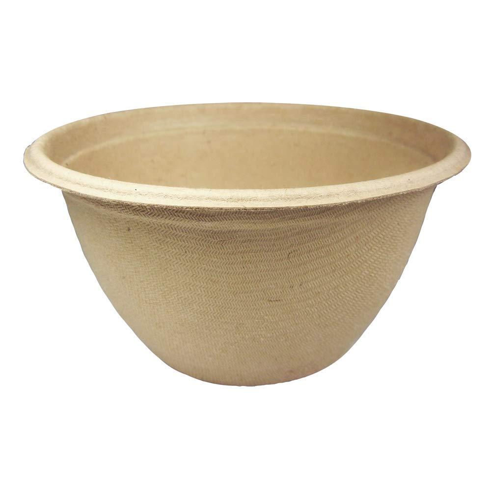 World Centric BB-SC-U12 100% Compostable Unbleached Plant Fiber Soup Barrel Bowls, 12 oz. (Pack of 500)