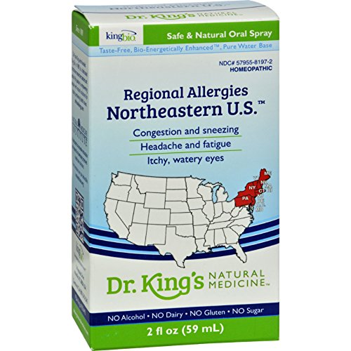 King Bio Homeopathic Northeastern U.S. - Regional Allergies - Vegan - Gluten Free - 2 fl oz (Pack of 2)
