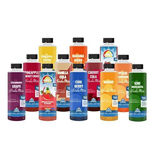 NEW FLAVORS | Ralph's Sodamix 12 Sample Pack Sodastream Samples | Twelve 4oz Samples