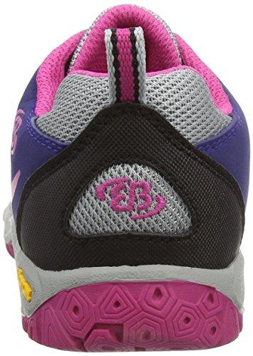 EB kids Range - Zapatos de Low Rise Senderismo Niñas Gris (GRAU/LILA/PINK)