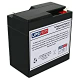 Powersonic PS-665 - 6 Volt 6.5 Amp Hour Sealed Lead Acid Replacement Battery w/ 0.250 Fast-on Terminals