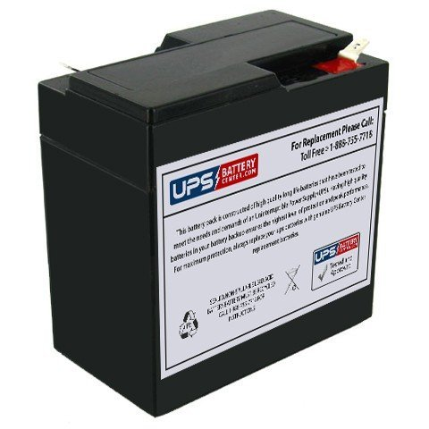 Powersonic PS-665 - 6 Volt 6.5 Amp Hour Sealed Lead Acid Replacement Battery w/ 0.250 Fast-on Terminals by UPS Battery Center