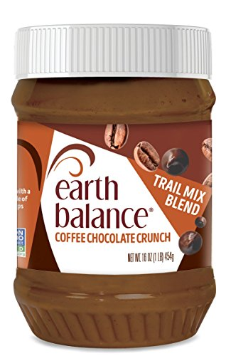 Earth Balance Peanut Butter Trail Mix Spread, Coffee Chocolate Crunch, Non-GMO Project Verified, Vegan, 16 Ounce