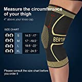 BERTER Knee Brace Men Women - Compression Sleeve Non-Slip Running, Hiking, Soccer, Basketball Meniscus Tear Arthritis ACL Single Wrap