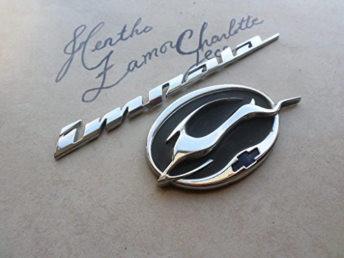 (00-04 Chevy Impala Rear Trunk Chrome Logo 10412433 Leaping Deer Emblem 10437467 Nameplate Script Set of 2 Decals)