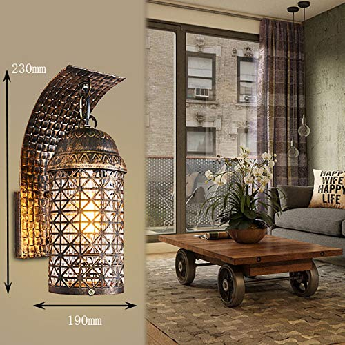 56c25e3d205d Quuep Escalera del pasillo lámpara de pa pa pa rojo lámpara de caballo  antigua lámpara de