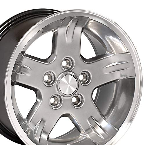OE Wheels 15 Inch Fits Jeep Cherokee Wrangler Wrangler Style JP03 Hyper Blacklack with Machined Lip Rim Hollander 9050