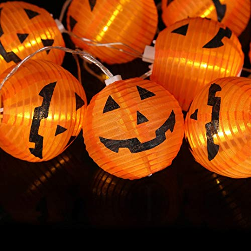 7' Electric Skillet - Glumes Halloween Decorations String Lights, 10 LED Waterproof Cute Pumpkin LED Holiday Lights for Outdoor Decor 1.2M-American Warehouse Shipment (yellow)