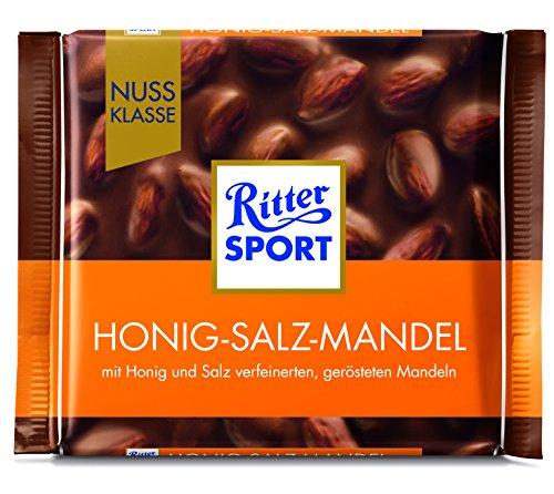 Ritter Sport Nuss Klasse Honig Salz Mandel Tafelschokolade, 11er Pack (11 x 100 g)