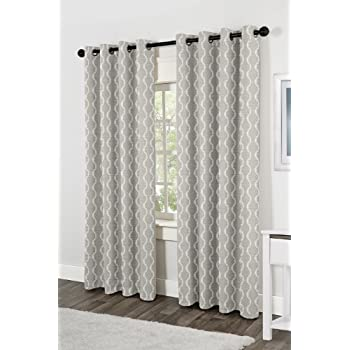 bathroom window curtain. Exclusive Home Curtains Baroque Textured Linen Look Jacquard Grommet Top Window  Curtain Panel Pair Dove Amazon com Finesse