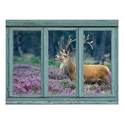 A red Deer in a Field of Purple...