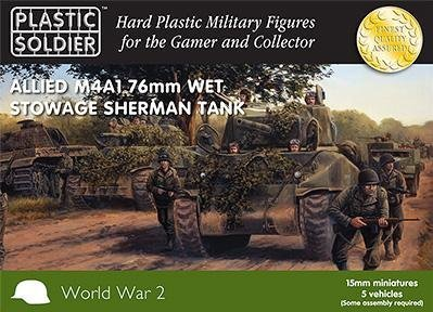 M4A1 76mm Wet Stowage Sherman Tank by WWII Miniatures - United States 15mm ()