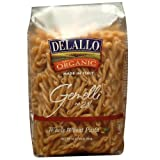 DeLallo Organic Whole Wheat Gemelli #28, 16-Ounce Units (Pack of 16)