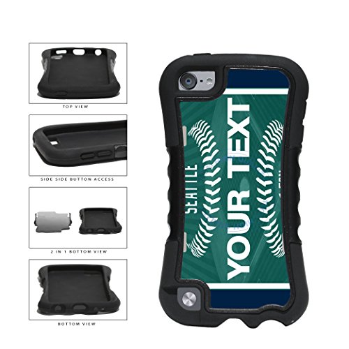 BleuReign(TM) Personalized Custom Name Baseball Seattle License Plate 2-Piece Dual Layer Phone Case Back Cover For Apple iPod Touch 5th Generation
