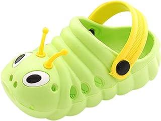 Fiaya Summer Toddler Baby Boys Girls Cute Cartoon Caterpillar Beach Sandals Slippers Flip Shoes (2-2.5Years US:8 C, Pink)