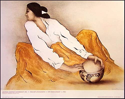 """R C Gorman Poster/""""Zia Bowl/"""" Vintage GALLERY Poster FREE SHIPPING"""