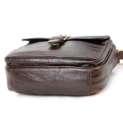 Mefly Il Primo Strato Di Pelle Borsa A Tracolla Messenger Bag Sacca Casual