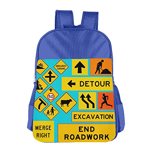 Price comparison product image ColorSee Traffic Warning Signs Bookbag Kids School Bag Boys Girls Backpack