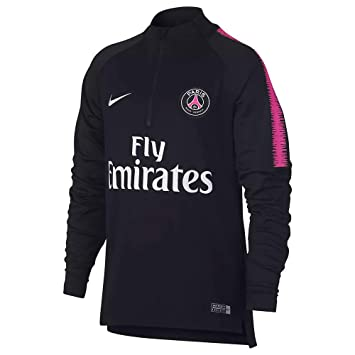 Nike PSG Y NK Dry SQD Dril Top Long Sleeved t-Shirt, Unisex niños, Hyper Pink/Black/bl, L: Amazon.es: Deportes y aire libre