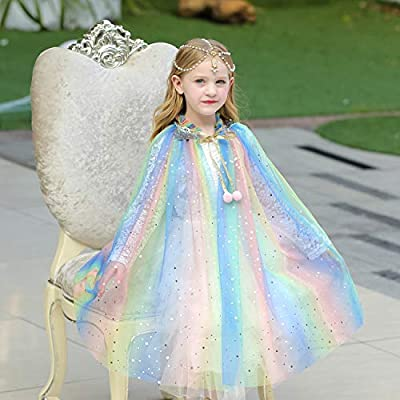 Party Chili Princess Cape Cloaks for Little Girls Dress Up: Clothing
