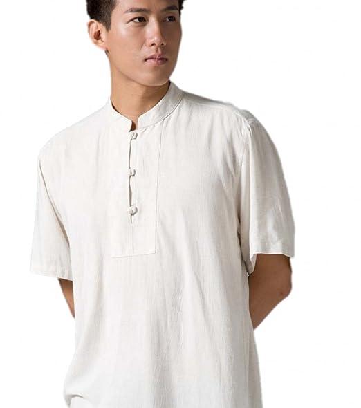 Amazon.com: zanying tradicionales Camisa Hombres Monje ...